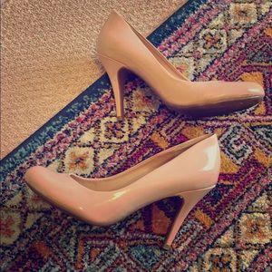 Jessica Simpson blush colored pumps